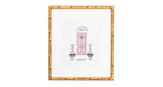 Jenny Batt Pink Door Print from Cannonborough Collective